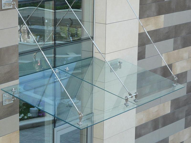Козырек стекло триплекс